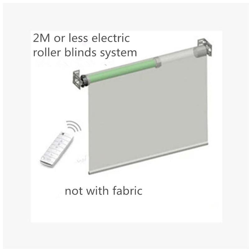 Système de stores à rouleaux personnalisables Elecric de largeur 2 m avec moteur tubulaire Dooya DM35S/35R sans tissu pour maison intelligente