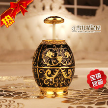 Nhe8673a advanced metal toothpick holder automatic box hand carved black glue Home Furnishing Hotel KTV