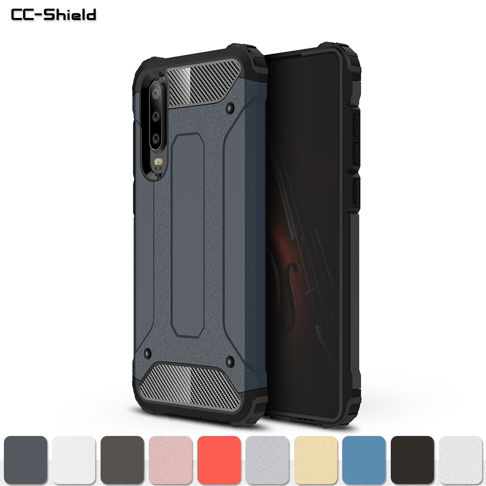 Armor Case for Huawei P30 Global Dual ELE-L09 ELE-L29 Phone Bumper Fitted Case for Huawei P 30 ELE L09 L29 HuaweiP30 Cover Bag