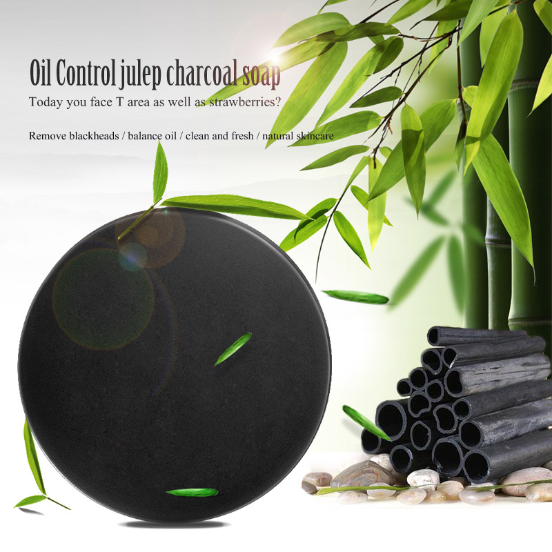 Bamboo Charcoal Handmade Soap Face Cleaning Essential Oil Soap Blackhead Remover Acne Treatment Face Wash Skin Care TSLM1