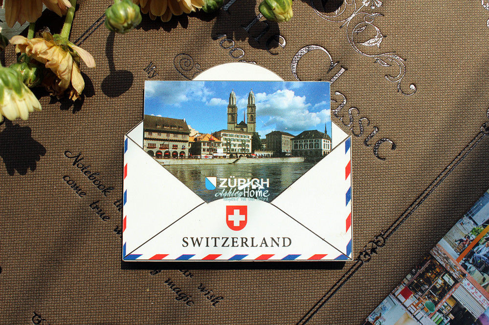 Zurich, Switzerland Tourist Travel Souvenir 3D Wooden Fridge Magnet Craft GIFT