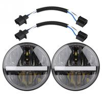 1 Pair 7 inch 30W Auto LED Halo Headlight Waterproof Two color Angel Eye Headlamp for Jeep Wrangler