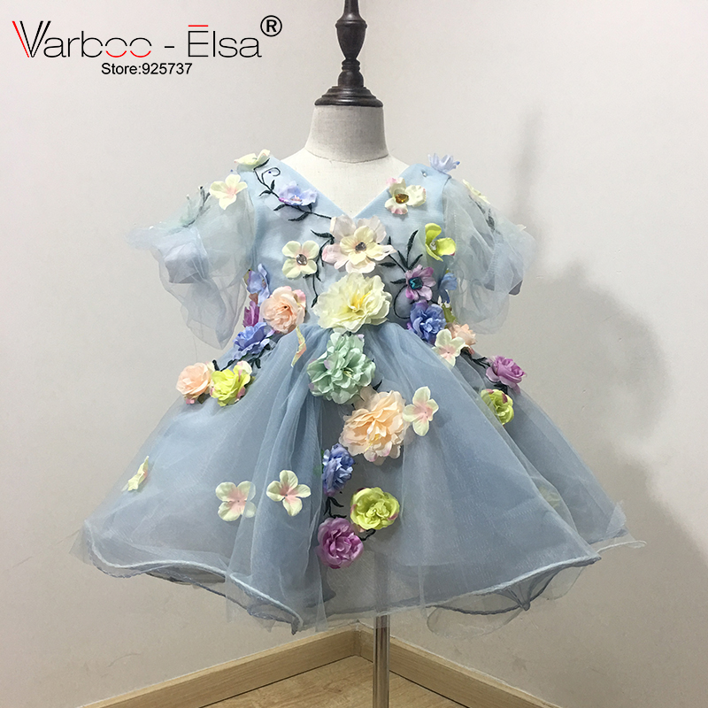 VARBOO ELSA 2017 Φορέματα κοριτσιών λουλουδιών για γάμους έθιμο ... 502d59f54af