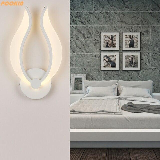 led wandlampen ac85 265v eenvoudige slaapkamer bed licht indoor keuken eetkamer gang tv muur verlichting