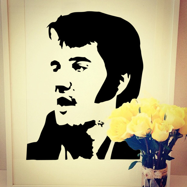 New Wholesale Elvis Presley Wall Mural Art Sticker Stencil Decal ...
