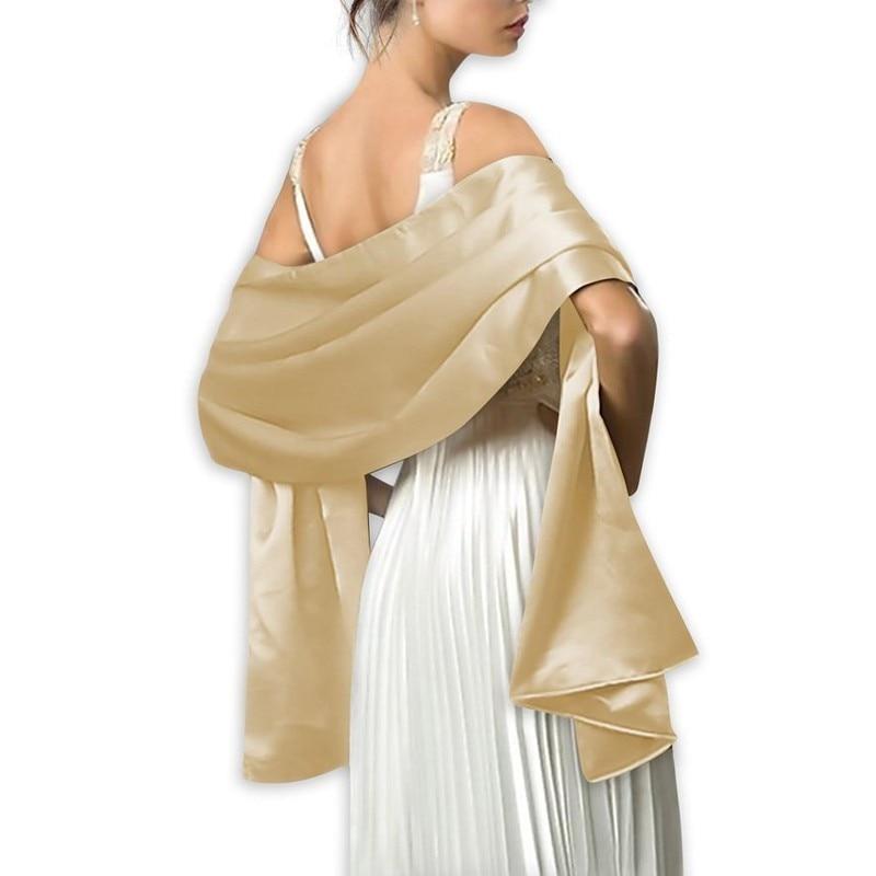 Elegant Shawl and   wraps   Wedding   Scarf   Satin   wrap   shawl Evening party   wrap   Bridal Wedding shawl chal fiesta OEM order accepted
