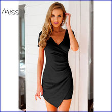 S-2XL 2016 Summer Brand Clothing Irregular 2 Color Party Dresses Women Bodycon Sexy Femme Luxury Mini Dress Vestidos Plus Size