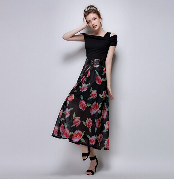 Long Floral Skirts - Dress Ala