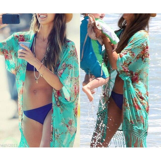 2016 D'été Femmes Mode Plage Couvrir Sexy Maillot De Bain Maillot De bain Couvrir Kimono Vêtements De Plage