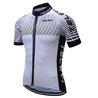 Teleyi Quick Dry MTB Bike Jersey Summer Cycling Jersey Shirt Men Short Sleeve Cycling Wear Team Sports Bicycle Clothing Maillot