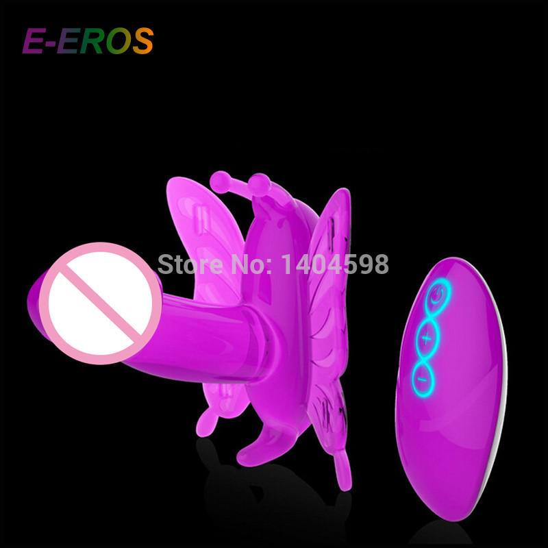 Hot Dual Motor with LED Light Butterfly Wireless Remote Control Purple Vibrator Adult Sexy Sex Toys Products For Women