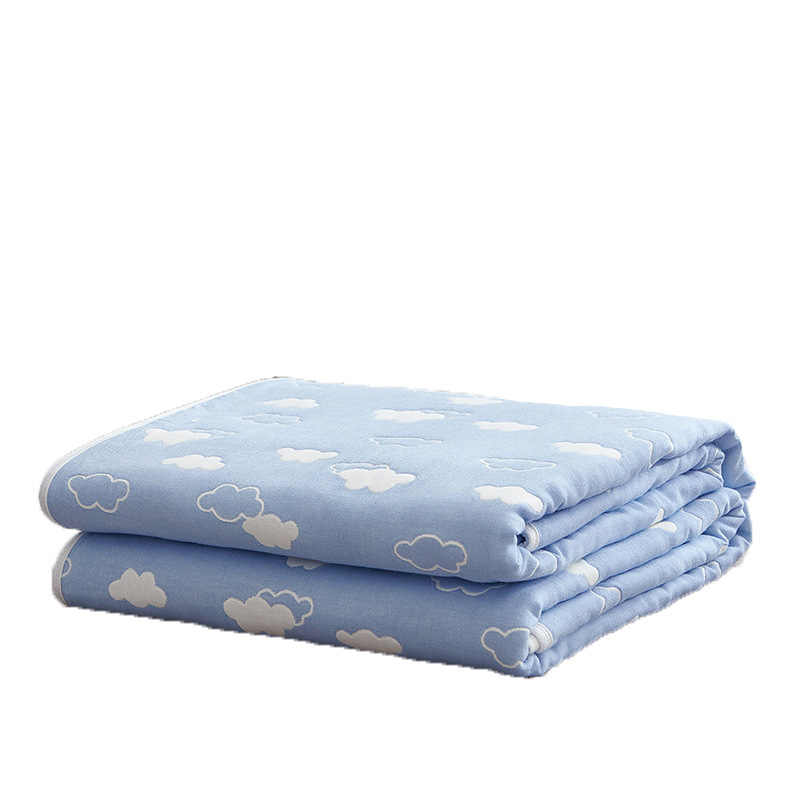Cozy Lightweight Muslin Cotton Blanket for Baby Adult Throw Blanket for Bed Couch & Sofa Summer Bedding Coverlet