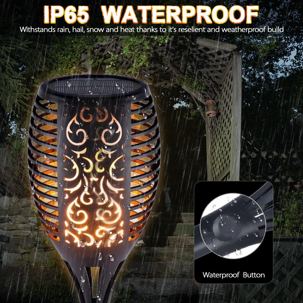 Image 4 - 1/2/4pcs Solar Flame Lamp Flickering Outdoor IP65 Waterproof Landscape Yard Garden Light Path Lighting Torch Light-in Solar Lamps from Lights & Lighting