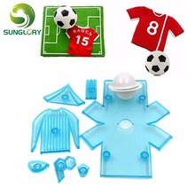 DIY Mold 9PCS Fondant Cake Moulds Football Shirt Soccer Theme Plastic Chocolate Cookie Cutter Candy Biscuit Decorating Tools diy 8pcs cake decorating tools plastic fondant cutter to create worldcup soccer boot trophy football sugarpaste craft cake mold