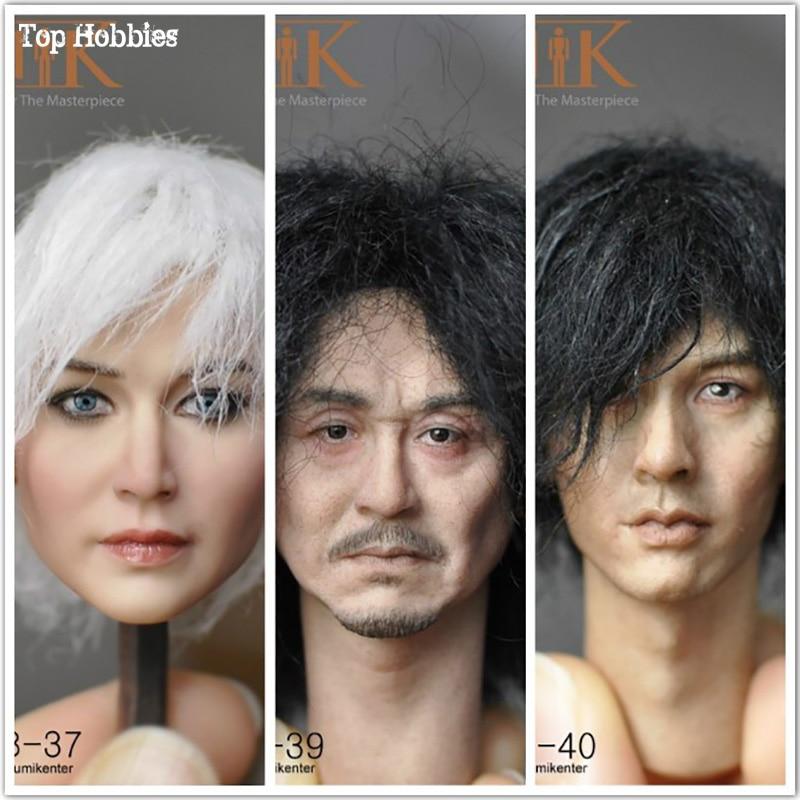 KUMIK 1 6 Scale Accessories Paste Hair Head Sculpt Carving Model 3 Styles KM18 37 39