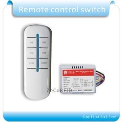 Бесплатная Доставка 5 Лот лампа Дистанционное Управление Переключатель 220 В 4 way 5 секций на/off smart digital Беспроводной + 12 В приемник передатчик
