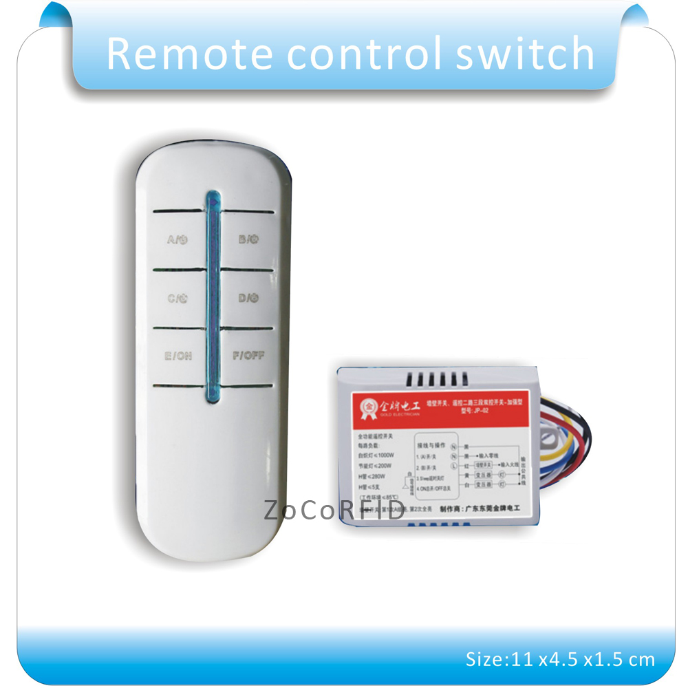 Free shipping 5 lots Lamp Remote Control Switch 220V 4 Way 5 Sections ON/OFF Smart Digital Wireless + 12V Receiver Transmitter cs3310 remote preamplifier board with vfd display 4 way input hifi preamp remote control digital volume control board