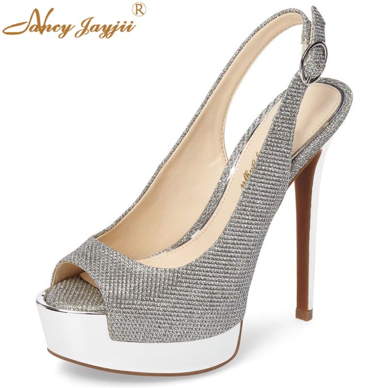 2017 Summer Women Sexy High Heels Platform Sandals Casual&Party&Wedding 14CM Woman Shoes Zapatos Mujer Tacon Sapato Large 4-16 phyanic bling glitter high heels 2017 silver wedding shoes woman summer platform women sandals sexy casual pumps phy4901