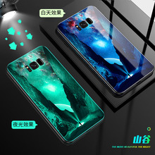 Luminous Glass Case For Samsung Galaxy S9 S9 plus Luxury case For Samsung Galaxy S8 S8