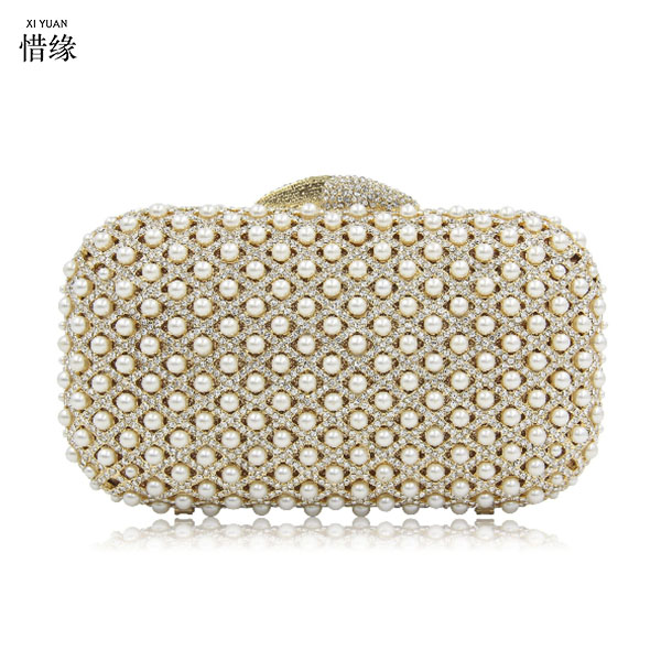 XIYUAN BRAND Women gold Crystal diamond Clutch Evening Bag Wedding Party Cocktail wallet Rhinestone Metal silver Handbag Purse gold woman evening bag women diamond rhinestone clutch crystal chain shoulder small purse gold wedding purse party evening bags