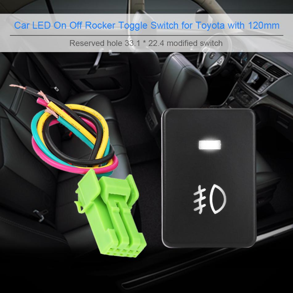 Car Led On Off Rocker Toggle Switch Fog Light Bar Headlight How To Wire A 1 X