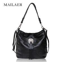 MAILAER Sheepskin leather handbag leather shoulder bag ladies leisure bag diagonal package