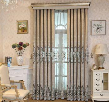 Cortinas para Living comedor dormitorio europeo cortina Chenille ...