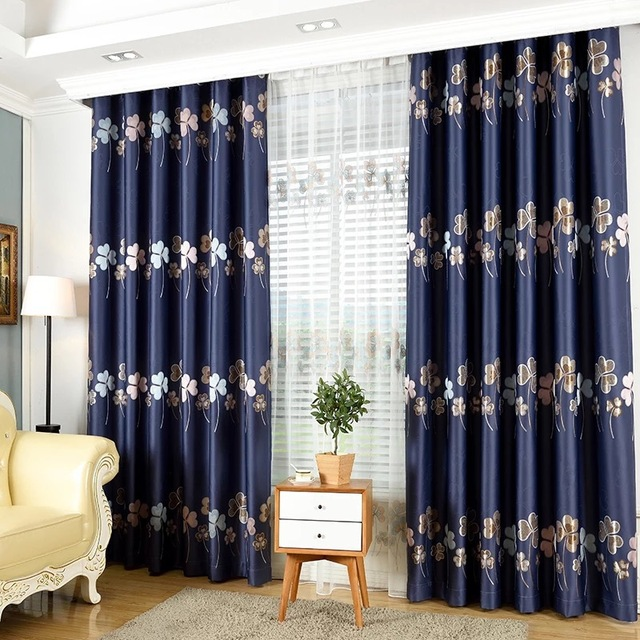 Chinese Luxury Curtains For Living Room Blackout Drapes For Bedroom  Embroidered Curtain Customized Elegant Window Panels