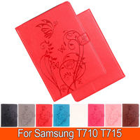 HOT Luxury Embossing Stand PU Leather Table PC Cases For Samsung Tab S2 T715 T710 8