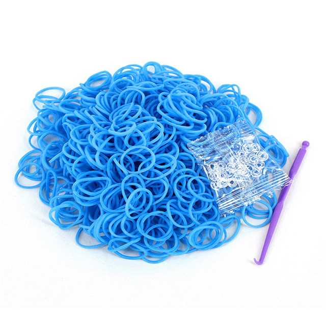 HOT 600pcs/Pack Rainbow Braided Rubber Bands Loom Refill DIY Bracelet Rubber Anklet Clips Kit Outdoor Multifunction Tools