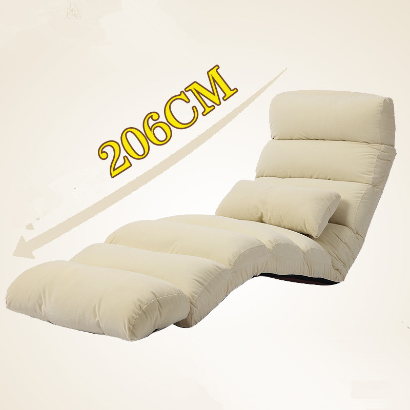 Modern Sofa Bed Lounge Upholstered Chaise Indoor Living Room Reclining Chair 5 Color Floor Folding Adjustable