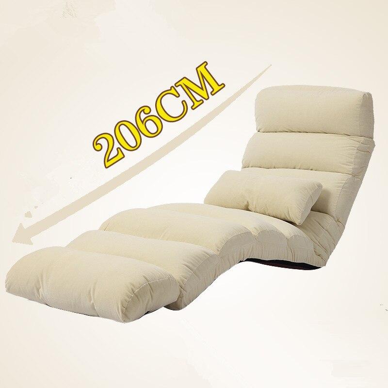 Moderne Schlafsofa Lounge Polster Chaise Innen Wohnzimmer Liegestuhl 5 Farbe Boden Folding Einstellbare Schlaf Liege
