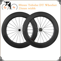 Ultra Light DT 240s Carbon Wheels 700C 23mm Width 88mm Deep Tubular Racing Bicycle Wheel DT