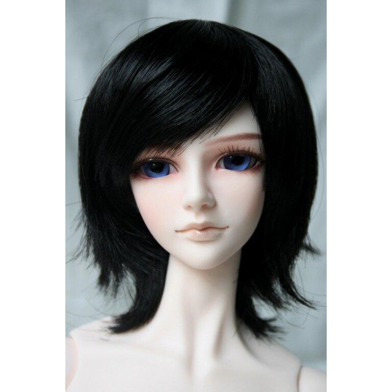 [wamami] 47# Black Short Straight Wig 1/3 SD DZ LUTS BJD Dollfie 8-9 et17 16mm bling dark yellow sd dz dod luts bjd dollfie glass eyes outfit