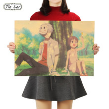TIE LER Warm Heart Movie The Light of The Fireflies Forest Kraft Paper Poster Decoration Painting Wall Stickers 36 X 51.5cm(China)
