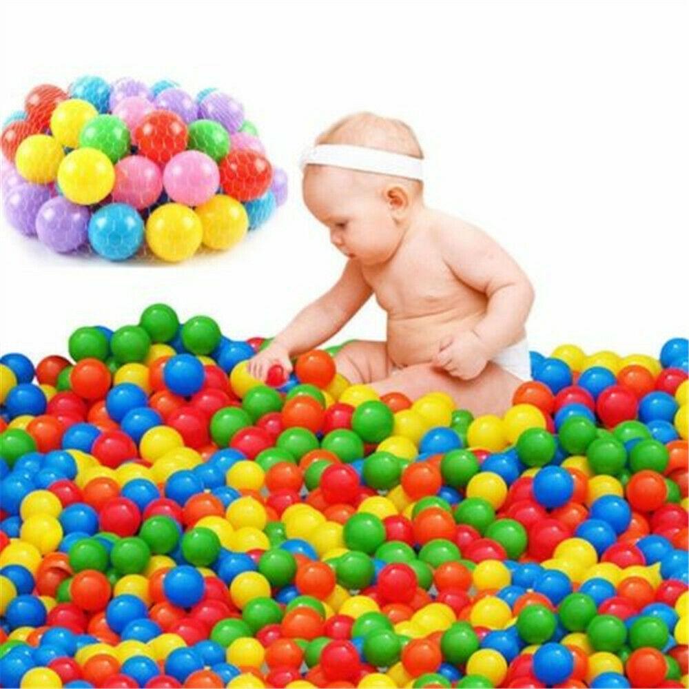 Lot 5.5cm Colorful Ball Fun Ball Soft Plastic Ocean Ball Babys Kids Swim Pit Toy
