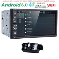 7 Double 2 Din Android 6 0 Media Player Universal Car Radio Stereo Quad Core GPS
