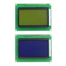 128*64 точек ЖК-дисплей модуль 5V желтый и зеленый/синий Экран 12864 ЖК-дисплей с Подсветка ST7920 параллельно Порты и разъёмы