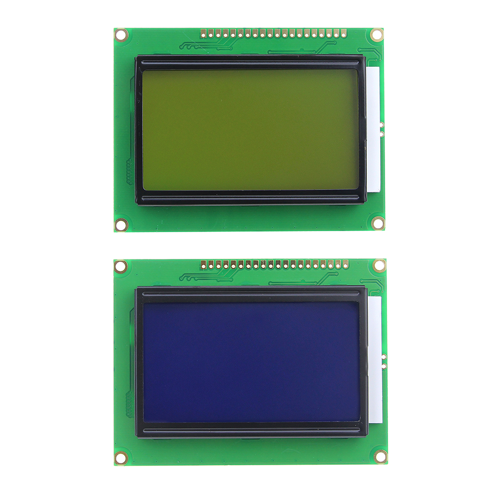 128*64 DOTS LCD Module 5V Yellow And Green/Blue Screen 12864 LCD With Backlight ST7920 Parallel Port