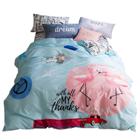 Svetanya Flamingo Bedlinen 100 Cotton Bedding Sets Twin Full Queen Size Quilt Cover Set Bedclothes