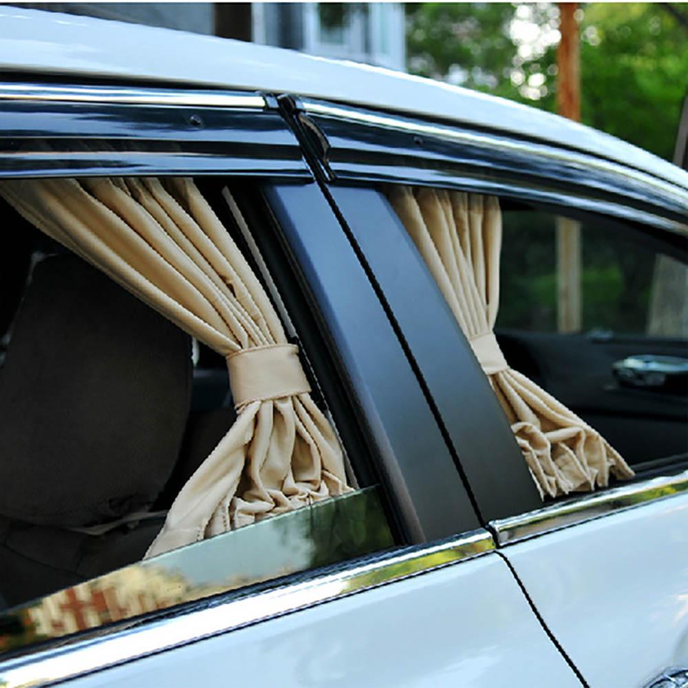 2 pièces/ensemble voiture pare-soleil bloc pare-soleil Auto fenêtres fenêtre arrière pare-soleil en alliage d'aluminium maille latérale élastique UV isolation