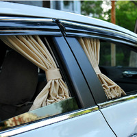 2Pcs/Set Car Sun Shade Block Sunshade Auto Windows Rear Windowshade Aluminum Alloy Side Mesh Elastic UV Insulation
