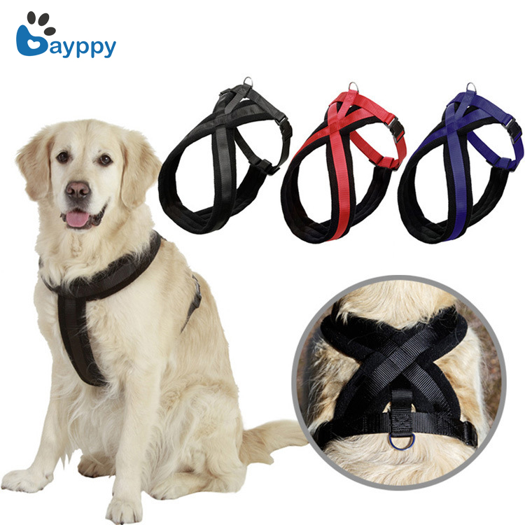 2018 Nylon Heavy Duty No Pull Dog Pet Harness Collar Outdoor Pet Dog Vest Harness Dog Trainning Walking Harness S to Xl 3 Colors