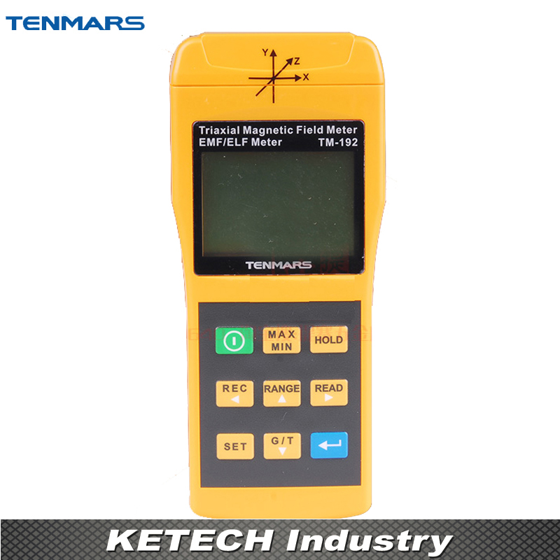 3 Axis Triaxis Gaussmeter EMF ELF Magnetic Field Meter Electromagnetic Radiation Detectors TENMARS TM192