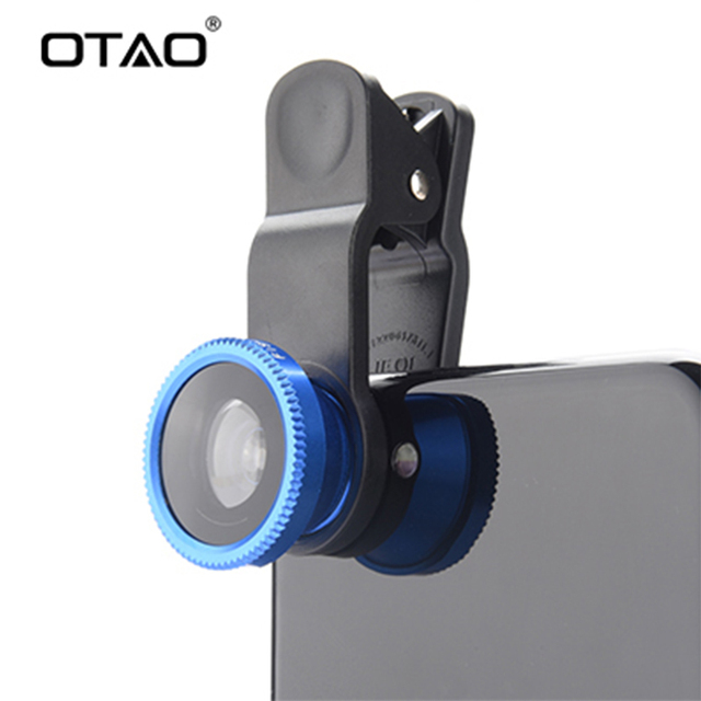 Original 3-in-1 Wide Angle Macro Fisheye Lens Kit with Clip 0.67x Mobile Phone Fish Eye Lenses for iPhone For Samsung All Phones
