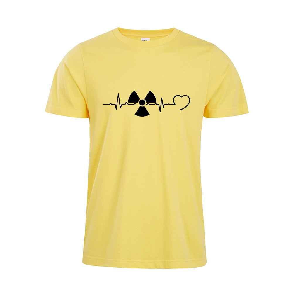 放射線ハートビートシャツ放射線ハイテクギフトシャツ Xray ハイテクおかしいシャツ