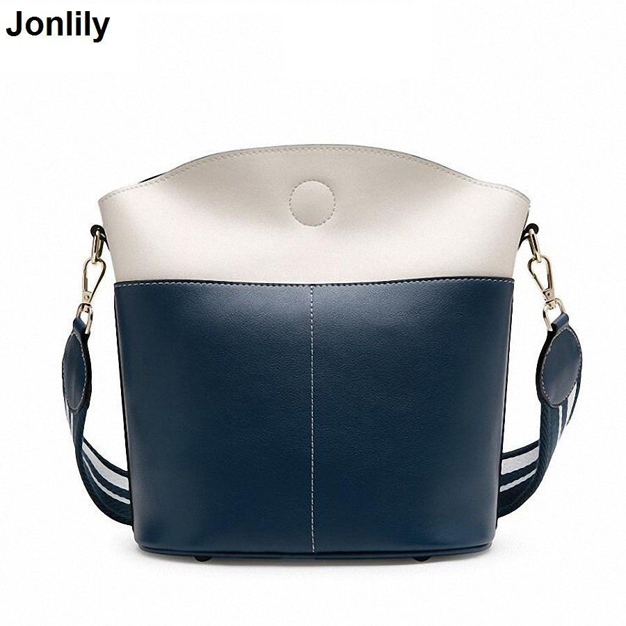 Women's Soft Genuine Leather Handbag High Quality Women Shoulder Bag Luxury Brand Bucket Bag Fashion Women's Handbags SLI-378 luxury genuine leather bag fashion brand designer women handbag cowhide leather shoulder composite bag casual totes