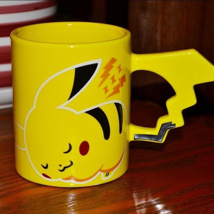 Pokemon Creative Pikachu Go Poke Ball Coffee Mug Milk Tea Whiskey Cartoon Cup