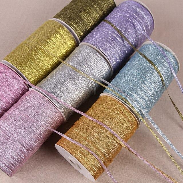 Nhiều màu Organza Ribbon 3 mét 10 mét/lô Long Lanh Thêu Hành Tây Băng cho Đám Cưới Bánh Món Quà Món Quà Trang Trí Thủ Công DIY Nguồn Cung Cấp
