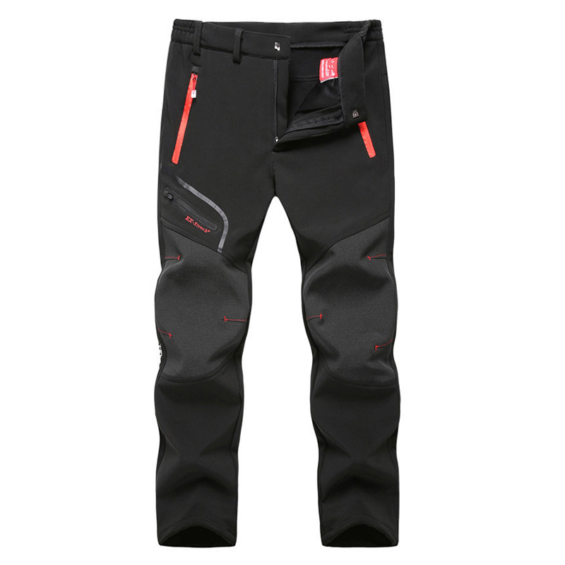Image 2 - Tactical Waterproof Pants Men Breathable Stretch Softshell Fleece Lined Pants Outdoors Sports Plus Size 4XL 5XL Autumn Winter-in Casual Pants from Men's Clothing